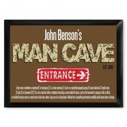 """Man Cave """"Defined"""" Pub Sign"""