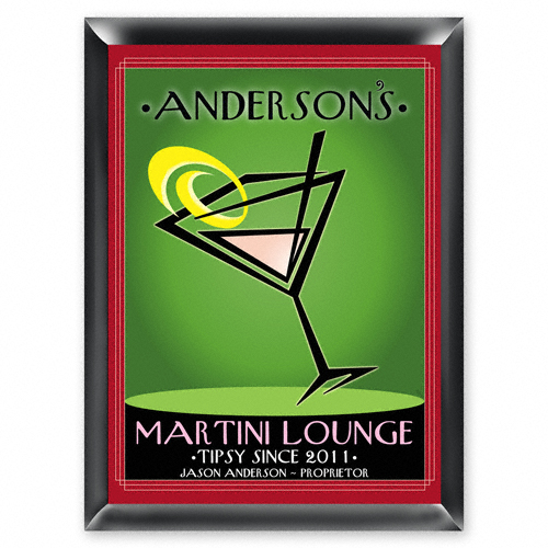"Personalized ""Cosmo"" Martini Lounge Sign"