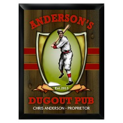 Personalized Dugout Pub Sign