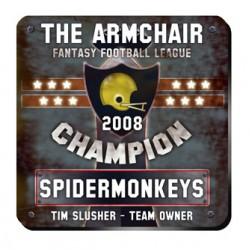 Personalized Fantasy Football Champion Coaster Set