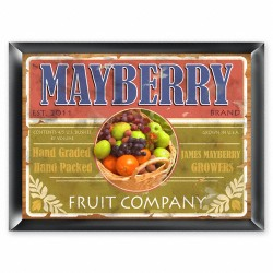 Personalized Fruit Company Sign