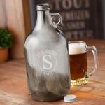 Personalized Gunmetal Beer Growler