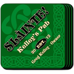 Personalized Irish Themed Coaster Sets