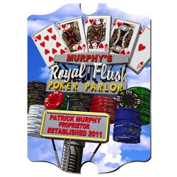Personalized Marquee Daytime Royal Flush Vintage Sign