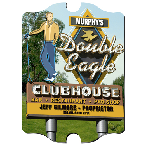 Personalized Marquee Double Eagle Vintage Sign