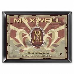 Personalized Monogram Cigar Pub Sign