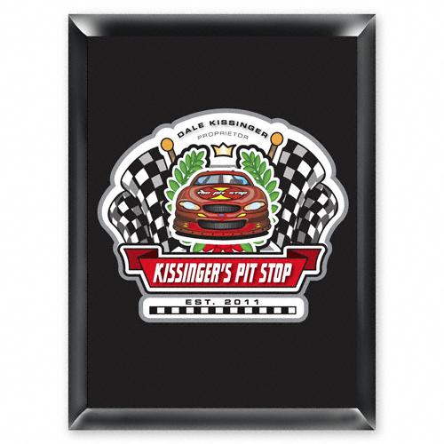 """Personalized Racing """"Pit-Stop"""" Pub Sign"""