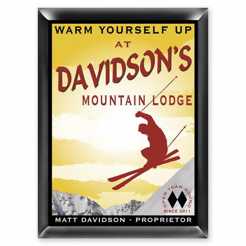 Personalized Ski Lodge Pub Sign