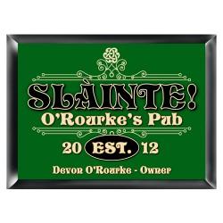 Personalized Slainte Classic Pub Sign
