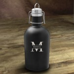 Personalized Stainless Black Matte Growler