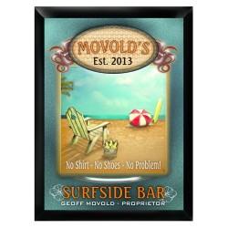 "Personalized ""Surfside"" Bar Sign"