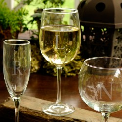 Personalized White Wine Glass