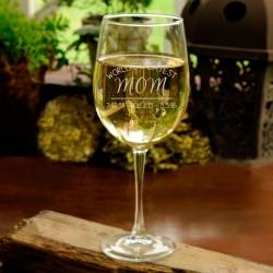 Personalized World's Greatest Mom Wine Glass