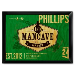 Tap Room Mancave Pub Sign