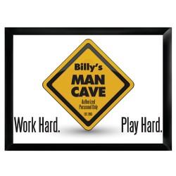 Work Hard, Play Hard Pub Sign